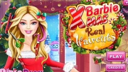 Прическа Барби на рождество
