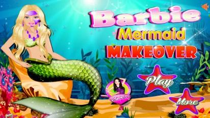 Барби русалка макияж